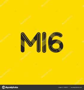 Letter And Digit M16 Logo — Stock Vector © Brainbistro inside Mi6 Id Card Template