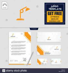 Light Interior Logo Template, Vector Illustration And with regard to Business Card Letterhead Envelope Template