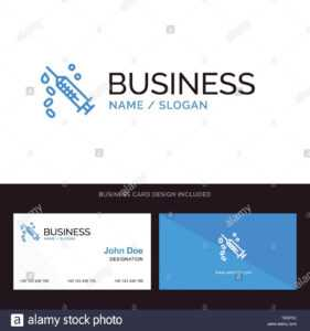 Logo And Business Card Template For Injection, Syringe within Dope Card Template