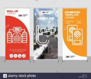 Loudspeaker Modern Business Roll Up Banner Design Template intended for Zoo Brochure Template