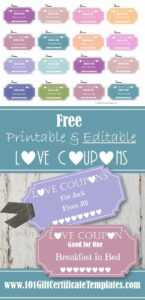 Love Coupons within Love Certificate Templates