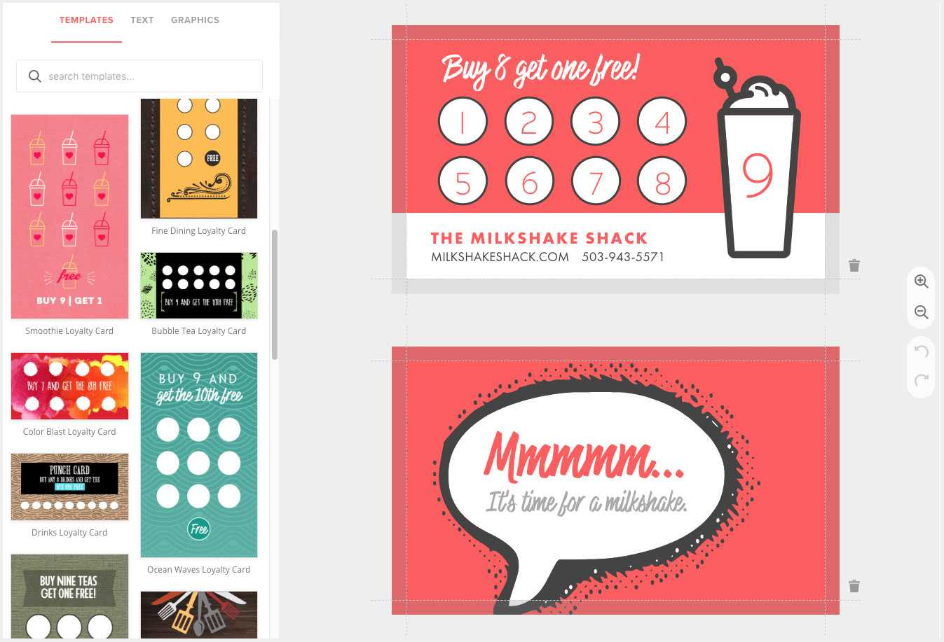 Loyalty Card Maker, Custom Punch Cards - Musthavemenus Intended For Business Punch Card Template Free