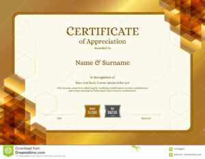 Luxury Certificate Template With Elegant Border Frame in Elegant Certificate Templates Free