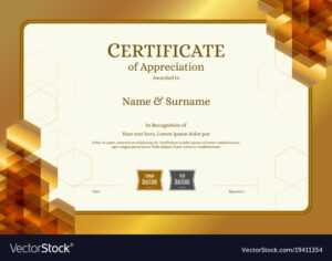 Luxury Certificate Template With Elegant Border with Certificate Border Design Templates