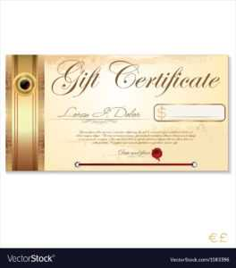 Luxury Gift Certificate Template pertaining to Restaurant Gift Certificate Template