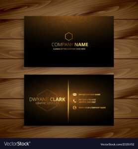 Luxury Premium Golden Business Card Template intended for Download Visiting Card Templates