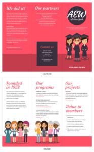 Magenta Non Profit Tri Fold Brochure Template regarding Country Brochure Template
