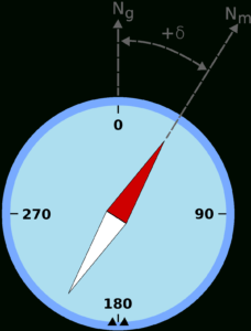 Magnetic Declination – Wikipedia throughout Compass Deviation Card Template