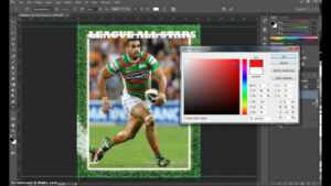 Make A Trading Card In Adobe Photoshop – Part 1 inside Soccer Trading Card Template