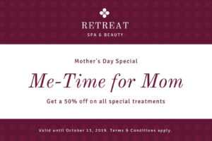 Maroon Pattern Mother's Day Gift Certificate – Templates for Spa Day Gift Certificate Template