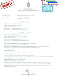 Marriage Certificate Cuba within Marriage Certificate Translation Template