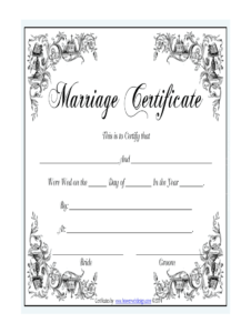 Marriage Certificate – Fill Online, Printable, Fillable Inside Certificate Of Marriage Template