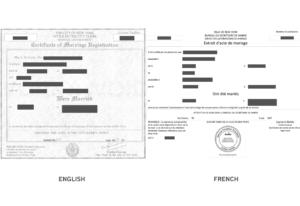 Marriage Certificate Translation Sample – Richard Gliech within Marriage Certificate Translation Template
