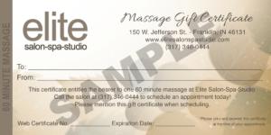Massage-Gift-Certificate-Sample – Elite Salon Spa Studio with Salon Gift Certificate Template