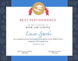 Math Contest – Certificate Template – Visme with Math Certificate Template