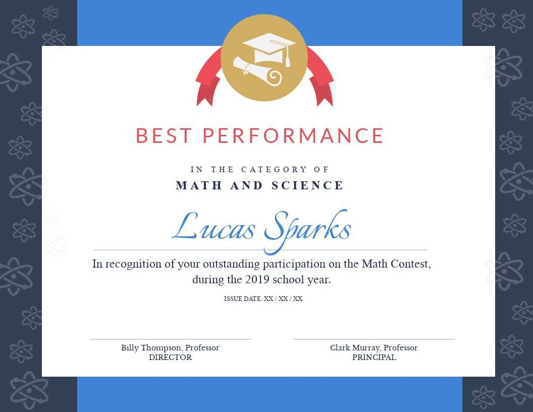 Math Contest - Certificate Template - Visme Within Best Performance Certificate Template