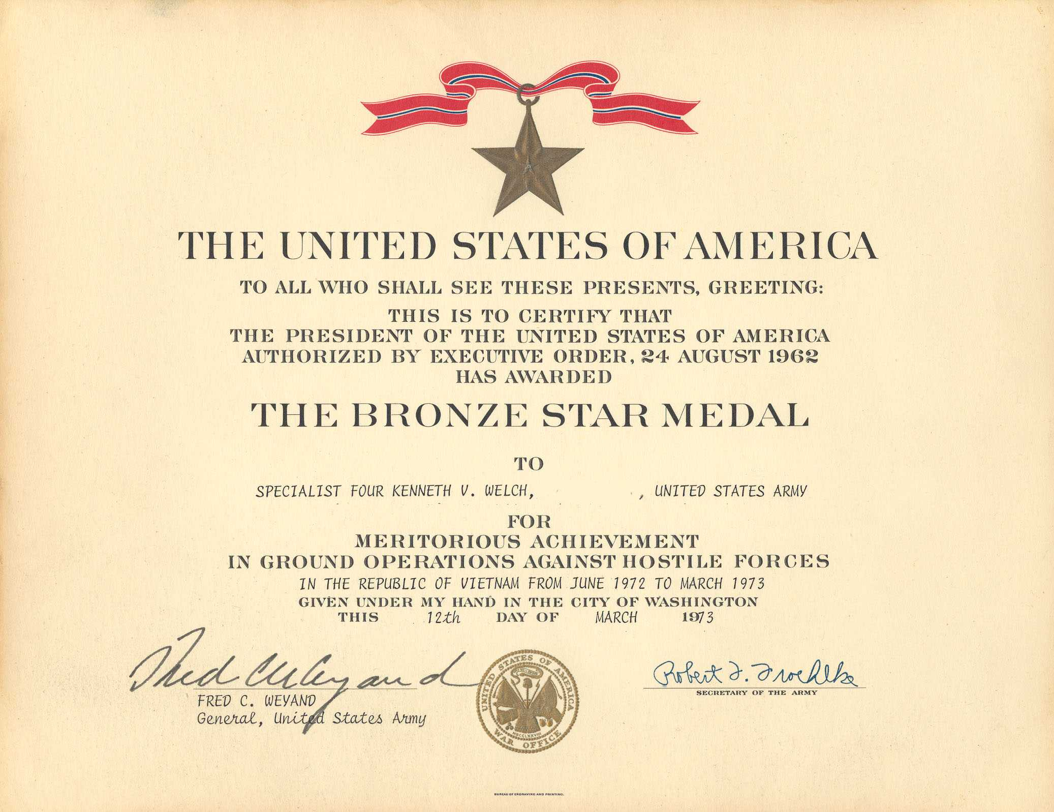 Medals In Army Good Conduct Medal Certificate Template