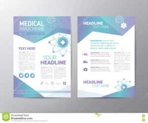 Medical Brochure – Leaflet Stock Vector. Illustration Of in Online Brochure Template Free