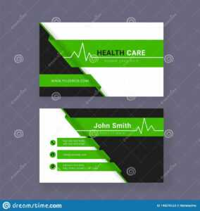 Medical Business Card Or Visiting Card. Stock Illustration intended for Medical Business Cards Templates Free