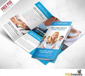 Medical Care And Hospital Trifold Brochure Template Free Psd pertaining to Cleaning Brochure Templates Free