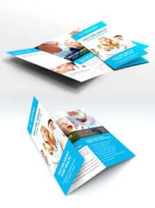 Medical Care And Hospital Trifold Brochure Template Free Psd with Cleaning Brochure Templates Free