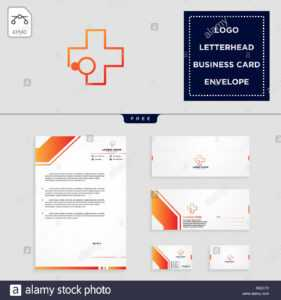 Medical Cross Logo Template Vector Illustration And Free with Business Card Letterhead Envelope Template