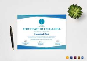 Medical Excellence Certificate Template for Indesign Certificate Template