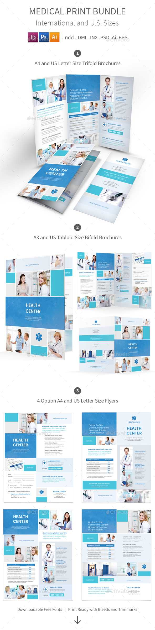 Medicine And Mike Informational Brochure Templates Intended For Medical Office Brochure Templates