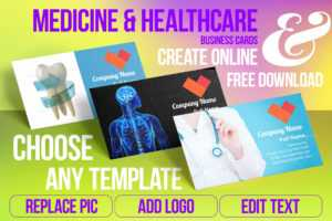 Medicine & Healthcare Business Card Samples For Create for Medical Business Cards Templates Free