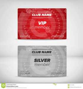 Member Card Templates Stock Vector. Illustration Of Entrance inside Membership Card Template Free