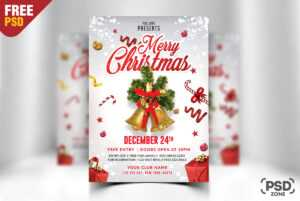 Merry Christmas Flyer Free Psd – Psd Zone for Free Christmas Card Templates For Photoshop