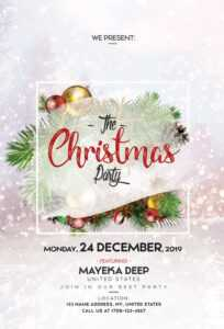 Merry Christmas Free Psd Flyer Template | Freebiedesign for Christmas Brochure Templates Free