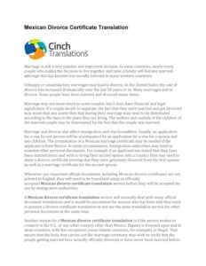 Mexican Divorce Certificate Translationcinch Translation with regard to Mexican Marriage Certificate Translation Template