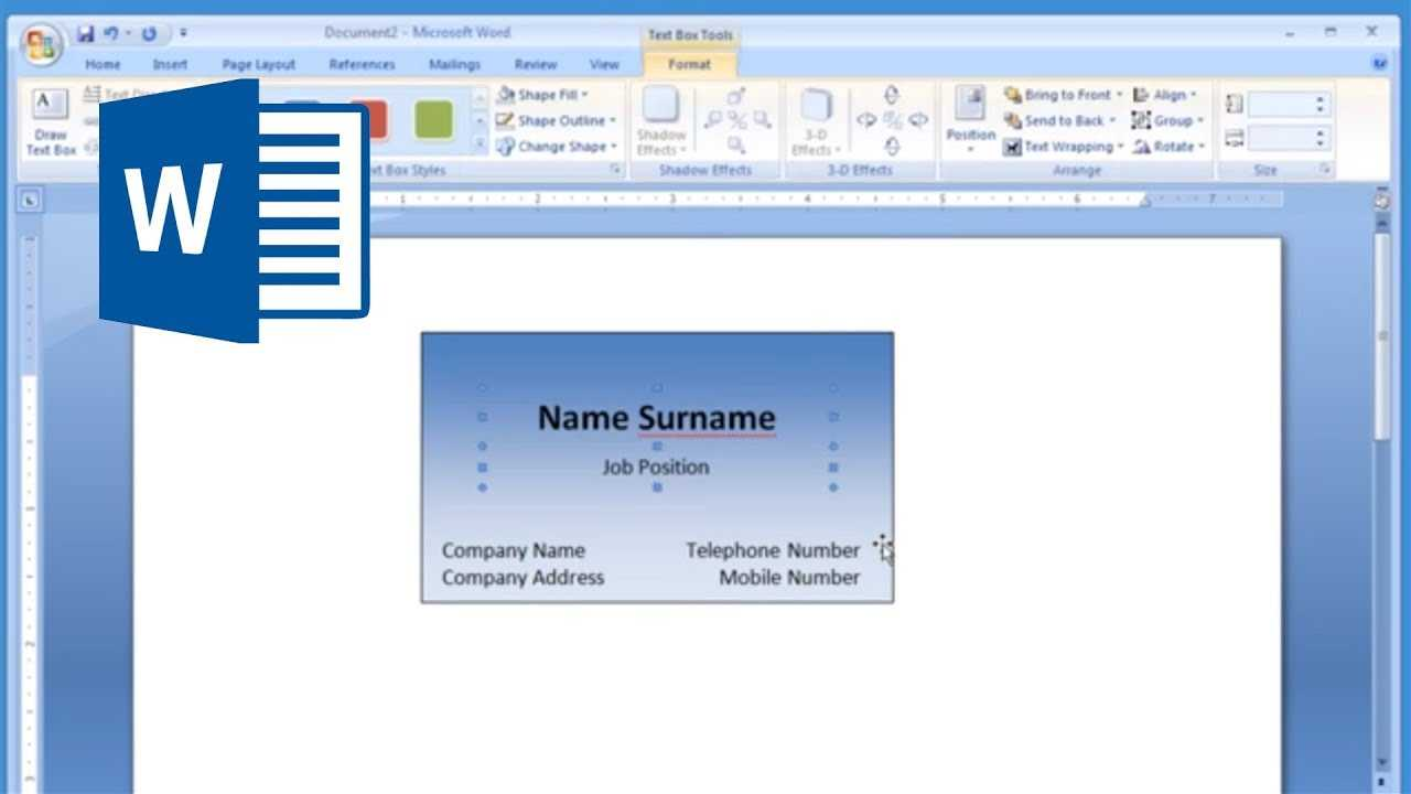Microsoft Word - How To Make And Print Business Card 1/2 Inside Business Card Template For Word 2007
