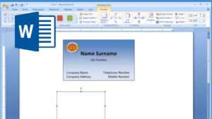 Microsoft Word – How To Make And Print Business Card 2/2 with Business Cards Templates Microsoft Word