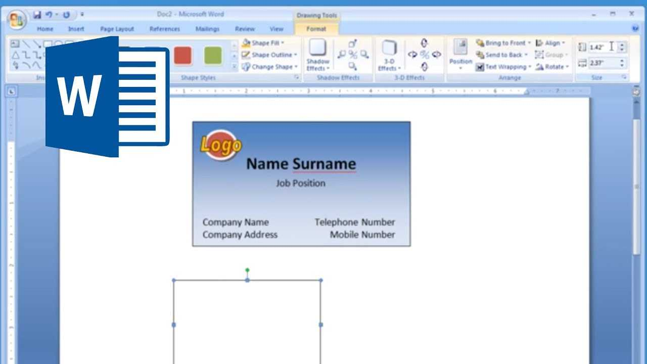Microsoft Word - How To Make And Print Business Card 2/2 With Business Cards Templates Microsoft Word