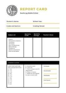 Middle School Report Card – Templatescanva inside Middle School Report Card Template