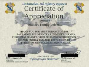 Military Certificate Of Appreciation Template ] – Army with Army Certificate Of Appreciation Template