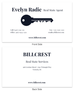 Minimal Real Estate Business Card Template with Dog Grooming Record Card Template