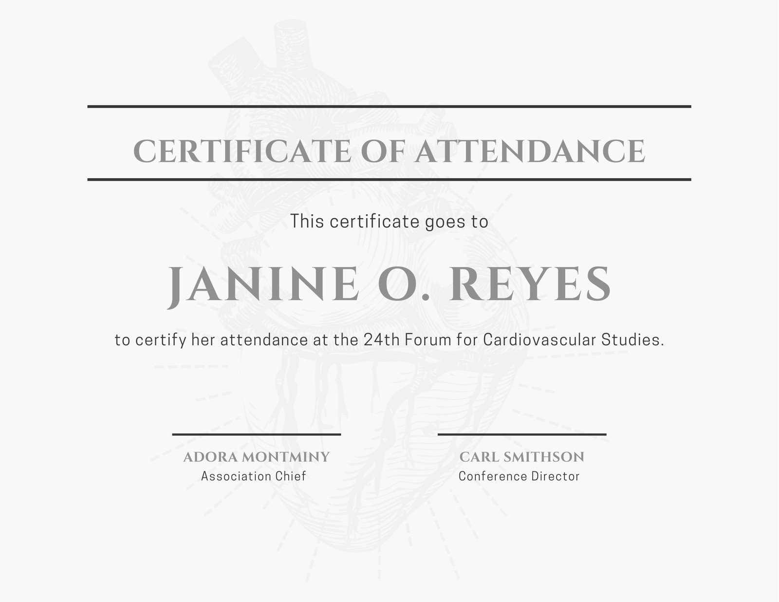Minimalist Conference Attendance Certificate - Templates Intended For Conference Certificate Of Attendance Template