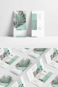 Mint Multipurpose Trifold Brochure Corporate Identity Template intended for Letter Size Brochure Template