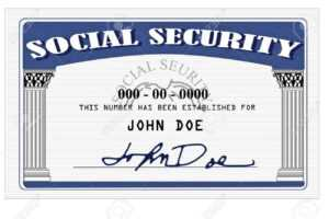 Mock Up Of A Social Security Card Done In Photoshop within Social Security Card Template Photoshop