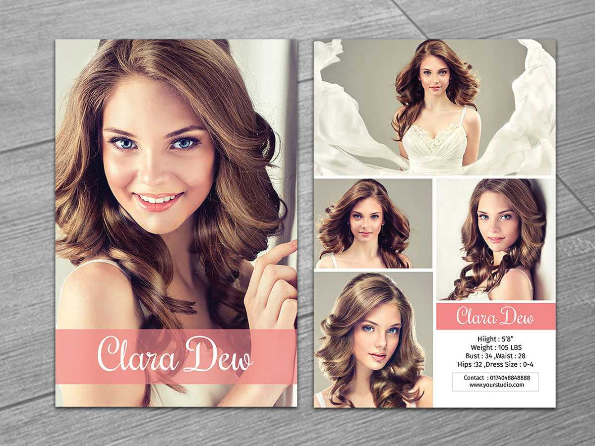 Model Comp Card On Behance Throughout Comp Card Template Download