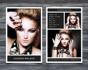 Model Comp Card Template pertaining to Model Comp Card Template Free
