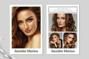 Model Comp Card Template with regard to Model Comp Card Template Free