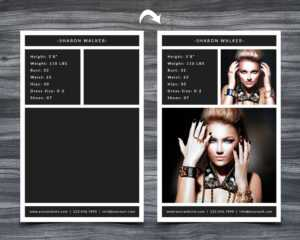 Model Comp Card Template within Free Model Comp Card Template Psd