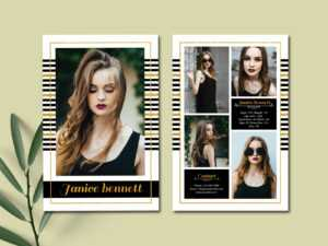 Model Comp Card Templateultimatetemplate On Dribbble within Comp Card Template Download