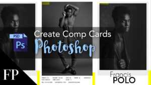 Model Comp Card With Adobe Photoshop + Free Template with Zed Card Template Free