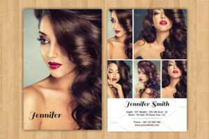 Model Z Card Template – Carlynstudio for Comp Card Template Download