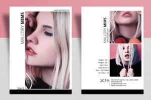 Modeling Comp Card Template | Model Comp Card, Composite Card | Ms Word &  Photoshop Template , Instant Download V17 regarding Download Comp Card Template
